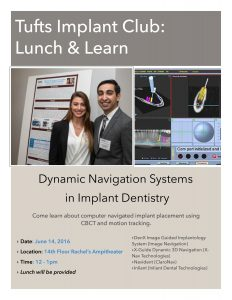 Tufts Implant Club: Lunch & Learn @ Rachel's Amphitheater