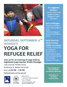 Yoga for Refugee Relief @ Tufts University Interfaith Center | Medford | Massachusetts | United States