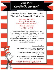 ASDA District 1 Leadership Conference @ Boston University School of Dental Medicine
