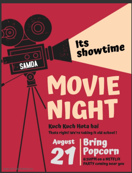 SAMDA: Movie Night @ Virtual: Netflix