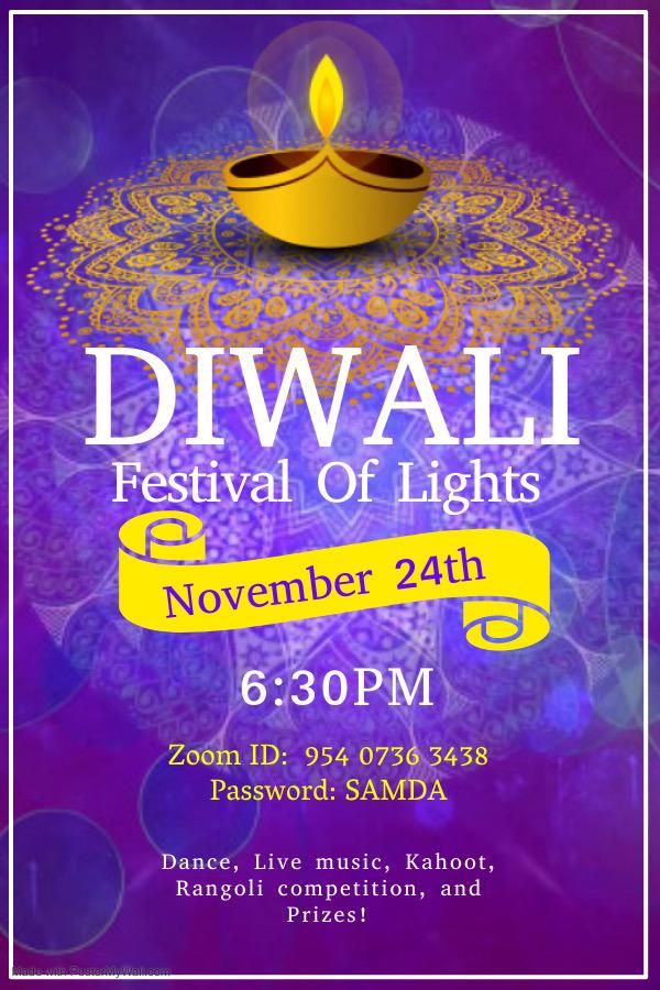 SAMDA's Diwali Festival of Lights @ Zoom