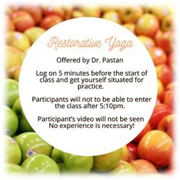 Virtual Restorative Yoga w/ Dr. Pastan